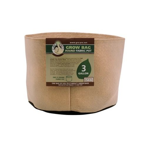 Tan Gro Pro Premium Gallon Round Fabric Pots