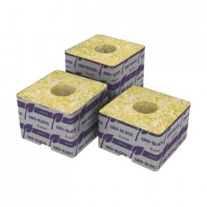 6 Grodan 4x4x3 in. Gro-Blocks w/ holes